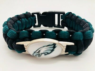 Philadephia Eagles NFL Football Team Paracord Bracelet Wrap Wristband