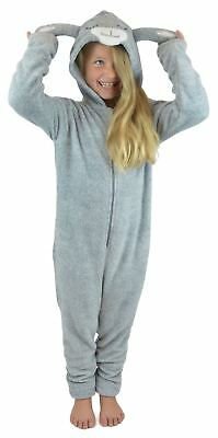 Childrens Hooded Soft Fleece Novelty Animal All in One Onezee with Hood