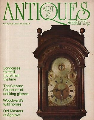 ART & ANTIQUES WEEKLY (28 June 1975) LONGCASE CLOCKS - THOMAS WOODWARD HORSES