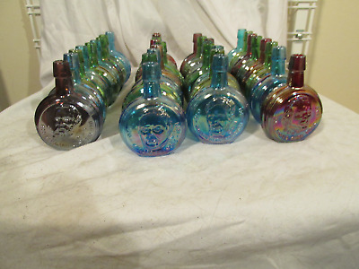 Vintage WHEATON Presidental MINIATURE Mini Iridescental BOTTLES Lot of 33