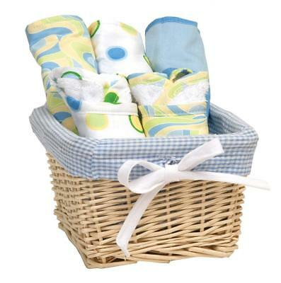 Trend Lab Dr. Seuss Bib and Burp Cloth Basket Gift Set, Blue Oh, The Places...