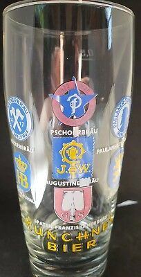 One of a kind.   Western Germany Munchner Bier glass.  Original from the 1960's