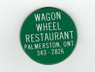 Wagon Wheel Restaurant Good for 1 Free Coffee Plastic Token - Palmerston Ontario