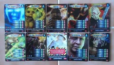 Dr Doctor Who Battles in Time EXTERMINATOR Set of 8 SUPER RARE Cards all listed