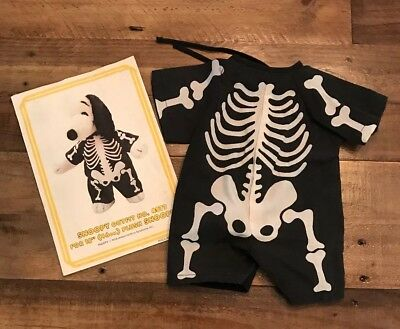 """Snoopy's Wardrobe Skeleton Halloween Outfit 4577 For 18"""" Snoopy"""