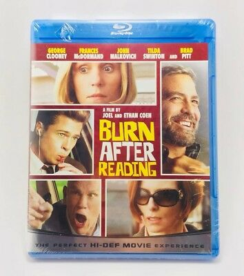 Burn After Reading ( Blu-Ray Dvd) Brad Pitt George Clooney (New Free Shipping)