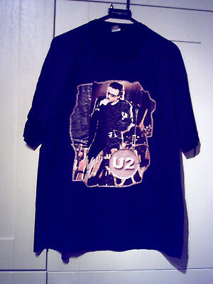 "U2 - New ""bono & Band"" Black T-Shirt (Xl)"