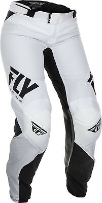 Fly Racing Womens Lite Race Pants / White/Black - All Sizes