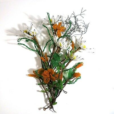 Lot French Hand Beaded Flowers (E)
