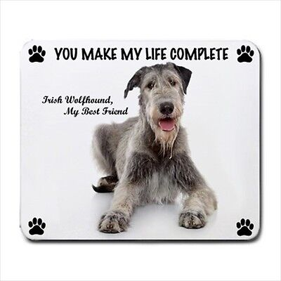 New Design Cute Adorable IRISH WOLFHOUND Dog Puppy Rubber Computer MOUSE PAD Mat