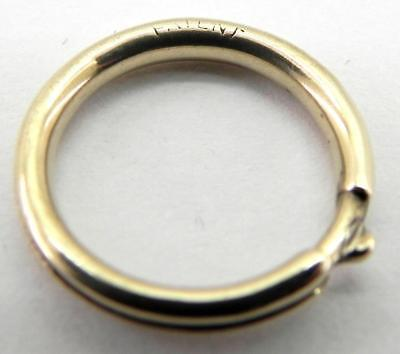 Victorian Patent Gold Metal Bolt Ring.