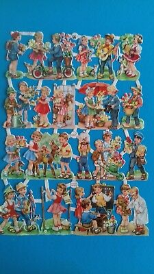 RARE EAS Vintage scraps  CHILDREN AT PLAY  used no 3161