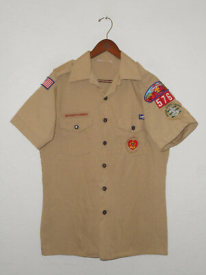 BOY SCOUTS Of America UNIFORM Shirt #576 SEWN Patches Scout Adult USA Mens : MD