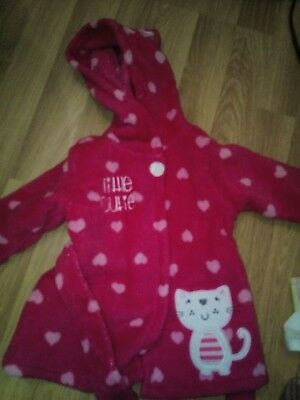 Baby Girls Dressing Gown 0-3 Months