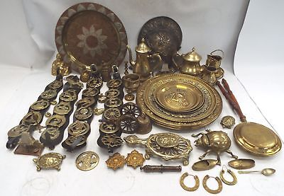 Large Collection Of Vintage Various BRASS/METALWARE Items 50+ - R24