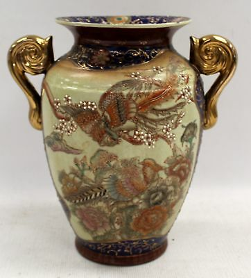 Large Original Ceramic Chinese Vase With Floral And Pheasant Decoration - C53