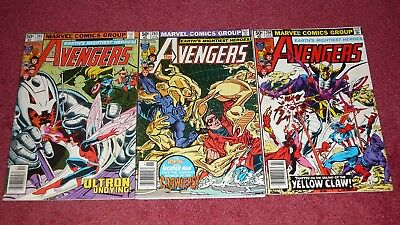 AVENGERS lot - 10 issues between #s 202 - 224 (Marvel, 1980-1982) NR!