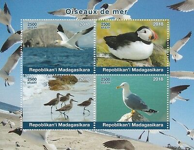 Madagascar 7725 - 2018  SEA BIRDS  perf sheet of 4 unmounted mint