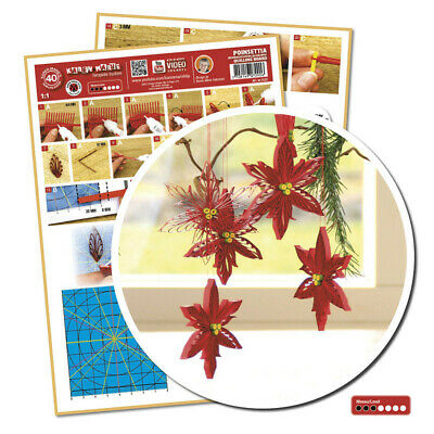 Quilling Template Poinsettia/ Weihnachtsstern