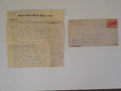 "WWII Letter 1945 German Radio Luxembourg 76th Infantry Division ""Onaway"" WW2"