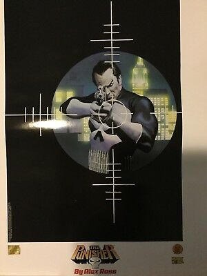 VERY RARE The Punisher Lithograph Alex Ross Artwork Marvel Comics