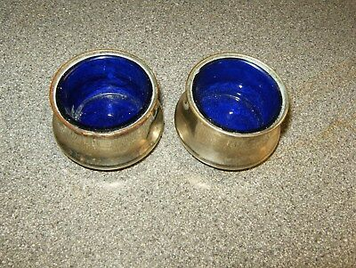 A Very Nice Pair Of Epns Salt Pots Makers Mark F & G With Original Liners