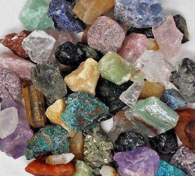 2 lb Bulk Lot Mix Crafters Gems Crystals Natural Rough Raw Mineral Rocks