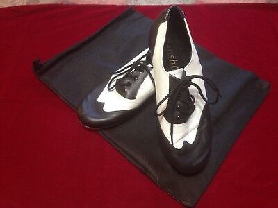 Black and White Spectator Tap Shoes byDanshuz Size 8M