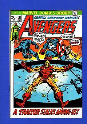 Avengers #106 Nm 9.4 Glossy Bronze Age Marvel Key