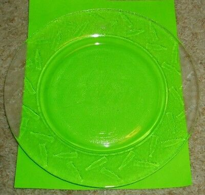 Coca Cola Embossed Bottles Clear Glass Dinner Plate