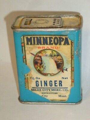 Nice Old Paper Label Minneopa Brand Ginger Advertising Grocery Spice Tin Can