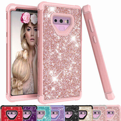 Glitter Bling Shockproof Protective Phone Case Cover For Samsung Galaxy Note 9
