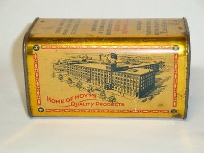 Nice Old Tin Litho Hoyt's Brand Mustard Advertising Grocery Spice Tin Can