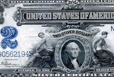 HGR SUNDAY 1899 $2 Silver Certificate ((STUNNING Issue)) AWESOME GRADE