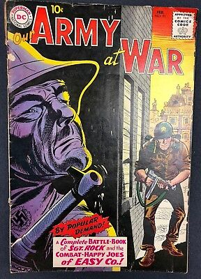 OUR ARMY AT WAR #91 (1960) DC Comics VG+ all Sgt. Rock issue!