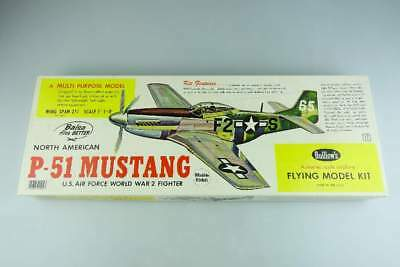 Guillows 402 Balsa Holz N.A. P-51 Mustang US AF WWII Fighter wooden kit 105855