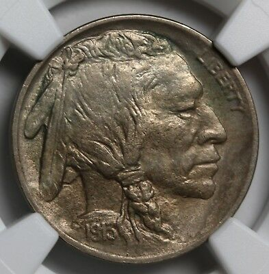 US 1913 Type 1 5 Cents Buffalo Nickel NGC UNC Details
