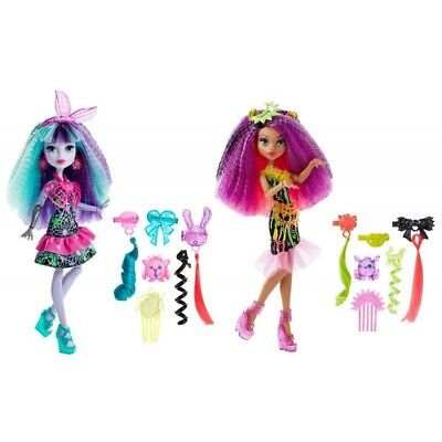 Monster High Electrified 2 Dolls Clawdeen Wolf & Twyla with Hair Accessories New