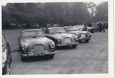 Three Aston Martin Db2/4 Saloons Lined Up At An Event Photograph.