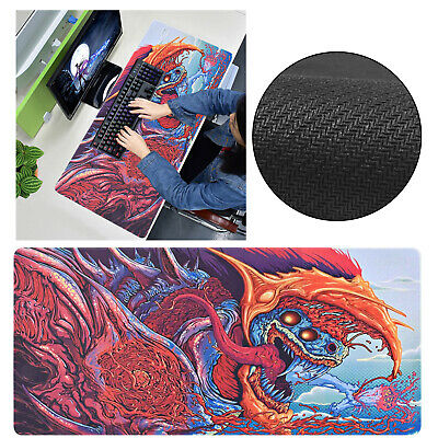 90x40cm Hyper Beast Large Gaming Mouse Pad Mat Laptop Computer Keyboard Non-Slip