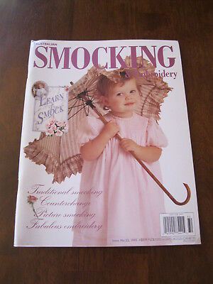 Australian Smocking: Issue no. 32:1995: Pattern sheet Attached. :Preloved