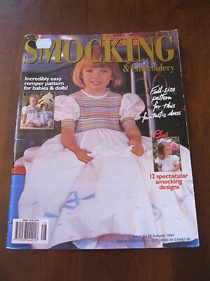 Australian Smocking: Issue no. 28, 1994: Pattern sheet Attached. :Preloved