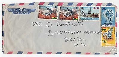 1971 GHANA Air Mail Cover ACCRA To BRISTOL GB Bartlett