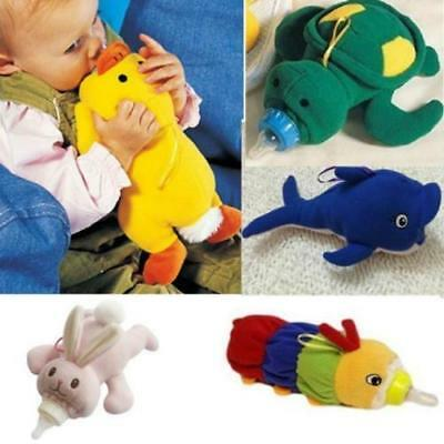 Nursing Feeding Bottle Plush Pouch Cartoon Animal Covers Warm Holders Case LC