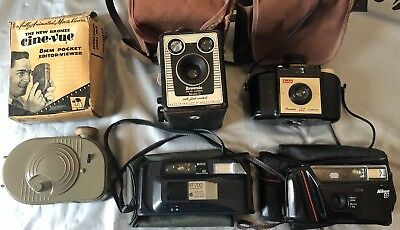 Job Lot Vintage Cameras & 8mm Cine-Vue