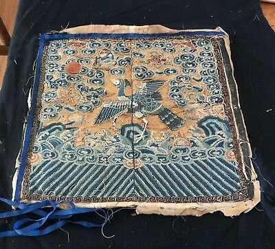 Superb Antique Chinese Hand Embroidered Panel