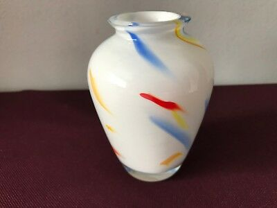 Pretty Royal Brierley Art Glass Vase With A Nice Shape And Coloured Flashes