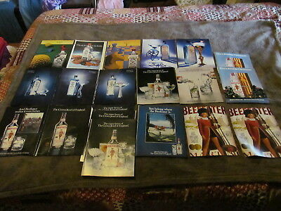 20 Fabulous Vintage Assorted Beefeater & Bombay Gin Magazine Ads 1980's And Up