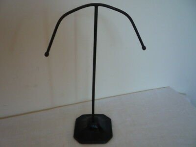 ** Original Vintage Metal Hat Wig Stand Shop Art Deco Millinery Display 1930s **