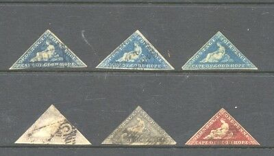 SOUTH AFRICA , CAPE of GOOD HOPE , 6 x stamps used , no thins .hugh cat. value